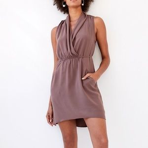 Wilfred Sabine Faux-wrap mini dress extra small